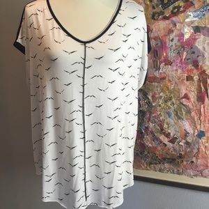 NWOT Nordstrom Rack [edista] bird print top | XL